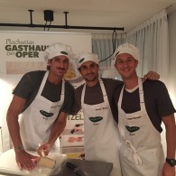 Feliciano Lopez David Ferrer und Philipp Kohlschreiber bei Plachutta